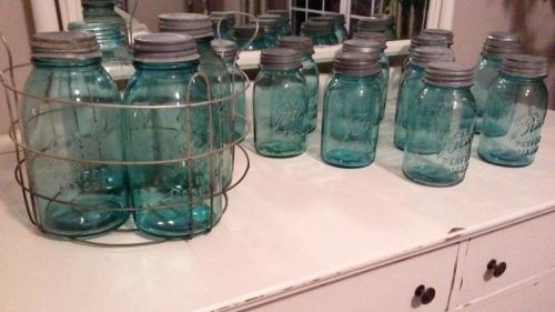 blue+mason+jars